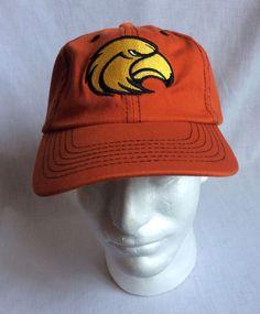 2630f93784a Mens Eagle Hawk Logo Strapback Cap Hat New w o Tags Orange  Unbranded