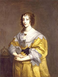 1632-1635 Henrietta Maria by Sir Anthonis van Dyck (private collection)