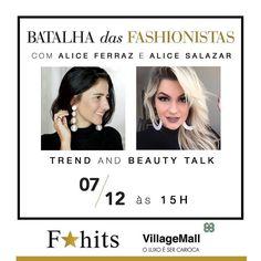 Minha genteee!!! Amanhã estarei no @villagemall no Rio de Janeiro!!! Eu e a Alice Ferraz falaremos sobre tendências às 15h!!!! Espero todos vocês lá!!!! Estou muito feliz e ansiosa pra gente se ver!!! #BatalhaDasFashionistas #FhitsVillageMall @fhits