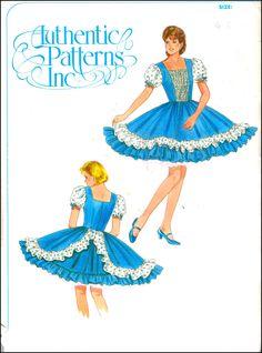 Authentic Patterns Inc.  #329  Square Dance Dress  Size (6-10)  UNCUT by ThePatternShopp on Etsy