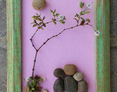 Pebble Art / Rock Art Couple wedding gift by CrawfordBunch on Etsy