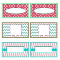 Use these fun free printables for tags, labels and calling cards