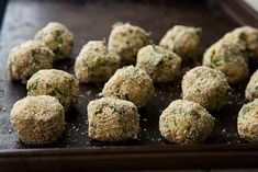 These vegetarian meatless meatballs are made with a light but flavorful spinach and ricotta mixture. Vegetarian Meatballs, Vegetarian Recipes, Healthy Recipes, Ricotta Meatballs, Cod Recipes, Vegetarian Options, Easy Recipes, Dinner Recipes, Spinach Ricotta