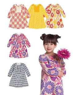 Such cute dresses for girls! As kids grow, they become tunics and you get years of use out of them.