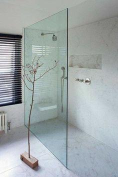 """Inspiration for your walk-in shower - """"Walk-In"""" style in the .- Inspiration für Ihre begehbare Dusche – """"Walk-In""""-Style im Bad Inspiration for your walk-in shower – """"walk-in"""" style in the bathroom - Bad Inspiration, Bathroom Inspiration, Bathroom Ideas, Shower Ideas, Shower Bathroom, Frameless Shower, Shower Taps, Shower Niche, Rainfall Shower"""