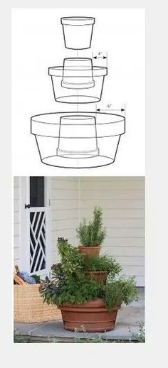 How to stack flower pots