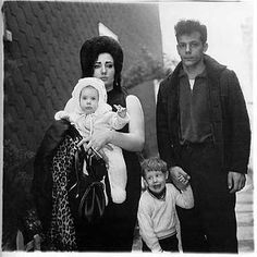 """Diane Arbus (1923-1971), American photographer and writer noted for black and white square photographs of """"deviant and marginal people."""""""