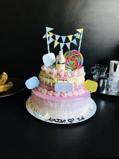 Einhorn Torte Birthday Cake, Desserts, Food, Pies, Cakes, Unicorn, Homemade, Kids, Birthday Cakes