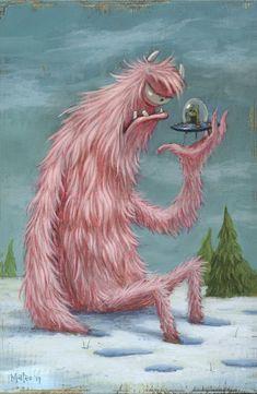 Monsters In My Head, Cartoon Monsters, Cute Monsters, Little Monsters, Cute Animal Illustration, Monster Illustration, Illustration Art, Animal Illustrations, Monster Dolls