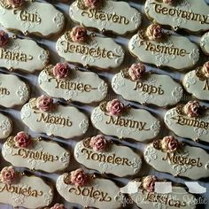 You Can Call Me Sweetie:  place card cookies for a wedding at a Château in Paris, France