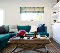 danielle oakey interiors: A Blue Sofa...Would You?