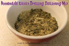 Fantastical Sharing of Recipes: Homemade Italian Dressing Seasoning Mix