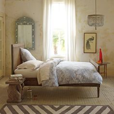 Is It Too Late To Spiffy Up the Bedroom Decor For Xmas? - laurel home beautiful harbour cane bed by Serena and Lily Dream Bedroom, Home Bedroom, Master Bedroom, Bedroom Decor, Bedroom Curtains, Design Bedroom, Peaceful Bedroom, Pretty Bedroom, Panel Curtains