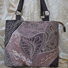 Купить Сумка лоскутная стеганая Аурика - коричневый, лоскутная техника, сумка ручной работы