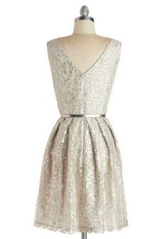 Silver Belle of the Ball Dress, #ModCloth would be so cute for Opening Night :)