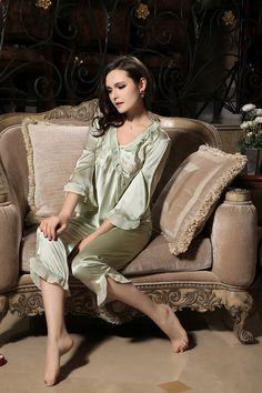 silk pajamas silk sleepwear silk nightwear    https://www.snowbedding.com/