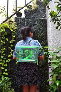 Clear Holographic plastic backpack satchel (Ready to Ship) by goldenponies on Etsy https://www.etsy.com/listing/248863459/clear-holographic-plastic-backpack