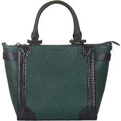 TOPSHOP Berners Tote Bag (1 475 UAH) ❤ liked on Polyvore featuring bags, handbags, tote bags, green, topshop purse, topshop handbags, green purse, zip top tote and top handle handbags