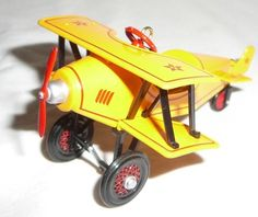 Hallmark Kiddie Car Classics 2001 Biplane Airplane Yellow Pedal Car #8