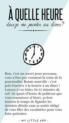 A quelle heure dois je me pointer au diner ? French Teacher, French Class, Teaching French, French Language Lessons, French Lessons, French Phrases, French Words, Gcse French, Little App
