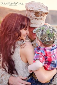 Military Family. I just want to point out how cute that kid is.