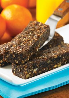 Morning Energy Bars- Raw Food Recipe Rural Mom. These look just like my LaraBars! Just add some chocolate chips