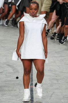 Wow, a gorgeous, normal-sized black woman at Paris Fashion week. Yeah! Rick Owens - #PFW SS14