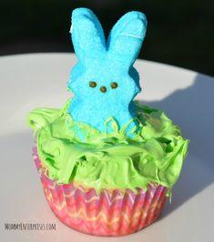 How To Make CUTE Filled Peep Cupcakes + Easy Cupcake Recipe