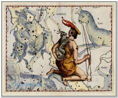 Auriga (Stars heightened in gold)  Map Maker: Johannes Hevelius  Place / Date: Gdansk (Dantzig) / 1687
