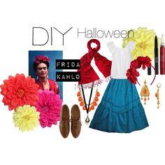 """DIY Halloween- Frida Kahlo"" by amye313 on Polyvore"