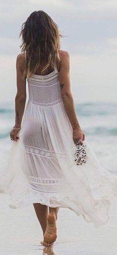 White Maxi Praire Dress                                                                             Source