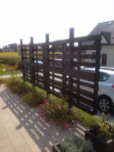 pergola made from pallet wood