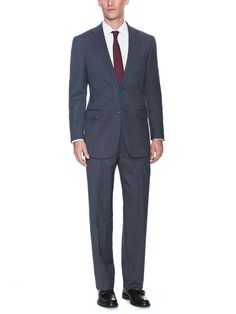 Wool Stripe Suit by hickey