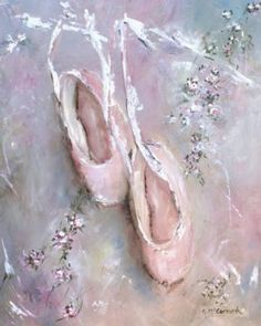 Vintage Ballet Shoes & Flowers - Free Postage Australia wide only
