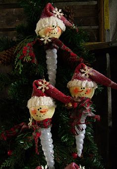 Icicle snow man and other tutorial on Christmas and other country items.