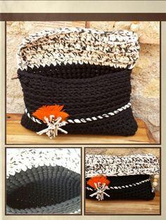 Bolso de Mano a Trapillo XL.¡¡¡¡ Crochet. Primavera......