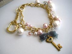 Of Girly key charm back Charm Keychain image 1