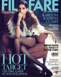 Magazine Cover: Sonama Kapoor for the cover of Film Fare December 2015.
