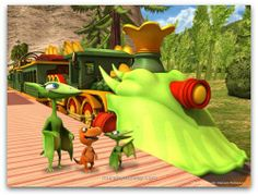 Dinosaur train...combines James' love for trains and dinosaurs!