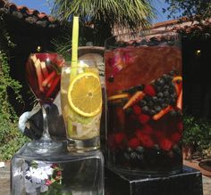 Sangria-style tea — with fresh fruits, juices and berries — at Tohono Chul Garden Bistro in Tucson