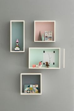 Coloured box shelves