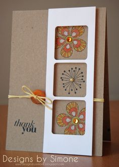 Summer Blossom Thank You Card - Scrapbook.com