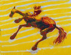 1978. Olje på lerret. ©Widerberg, Frans/BONO Venice Biennale, 3 Arts, Figurative, Norway, Moose Art, Horses, Gallery, Painting, Animals