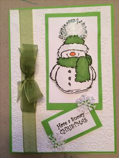 Penny Black Christmas Cards with Snowman Dyi Christmas Cards, Christmas Greeting Cards, Handmade Christmas, Penny Black Karten, Penny Black Cards, Winter Karten, Snowman Cards, Embossed Cards, Homemade Cards