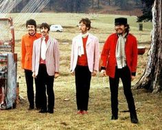 1967: The Beatles filming the promotional clip for Strawberry Fields Forever, at Knole Park in Sevenoaks, Kent. (Owned by the National Trust)