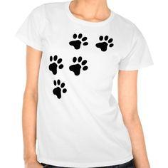 doggy bonito preto das patas do cão camisetas