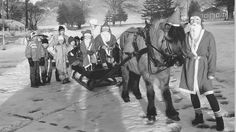 Sledetur med nissen på Vest-Agder landbruksskole, 12. desember 1988