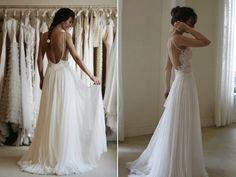 Wanda Borges backless silk wedding dress - Google Search