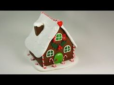 polymer clay Gingerbread House TUTORIAL (collab video) - YouTube