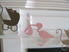 Items similar to Baby Shower Stork and Buggy Garland Banner - You Pick Your Colors - Free Ship Over on Etsy Community Project Ideas, Adoption Shower, Baby Boy Shower, Baby Showers, Cute Banners, Stork, Baby Room Decor, Future Baby, Beautiful Babies